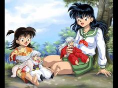 Kagome with little Inuyasha and Rin with little Sesshomaru Inuyasha Funny, Rin And Sesshomaru, Inuyasha And Sesshomaru, Manga Anime, Manga Art, Anime Art, Período Sengoku, Seshomaru Y Rin, Arte Sailor Moon