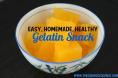 """Healthy homemade """"Jell-O"""" with freshly-squeezed citrus juice and grass-fed beef gelatin from www.thecuriouscoconut.com"""