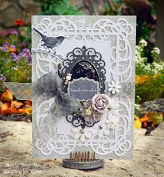 Happily Ever After - Xyron and Spellbinders Mystical Embrace dies. Wedding card