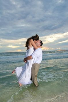 Beach wedding... In the water