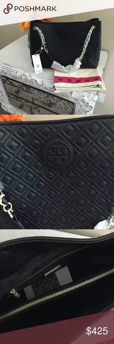 Tory Burch Marion Quilted Shoulder Bag Brand new with tag and dust bag. Retail $550. 100% authentic. Please no low/unreasonable offers. It's rude. Feel free to ask any questions. NO TRADE. PLEASE USE OFFER BUTTON. Tory Burch Bags Shoulder Bags