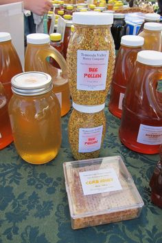 honey and bee pollen for sale at the Temecula Farmer's Market:, California