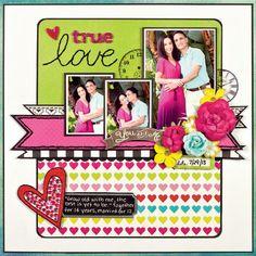 true love by Stacy Cohen #scrapbook #layout #sctmagazine