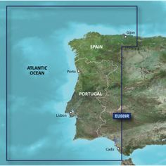 """Garmin BlueChart® g2 Vision® - VEU009R - Portugal & NW Spain - SD Card. BlueChart® g2 Vision® - VEU009R - Portugal & NW SpainVEU009R Covers:From Gijön to Cadiz and Sevilla, including the entire coast for Portugal. Specifications: Card Format: SD Port Plans: Yes Aerial Photos: Yes 3-D View: Yes Box Dimensions: 1""""H x 4""""W x 4""""L WT: 0.1 lbs UPC: 753759069476 Owner's Manual (pdf)"""