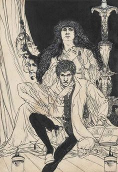 Austin Osman Spare (1886 – 1956), A Book of Satyrs: General Allegory, ink, wash and gouache