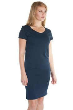 73028 Women's Bamboo Organic Tee Dress Viscose Bamboo Organic Jersey 70% bamboo 30% Organic cotton 4.3 oz/sq yd •Luxurious and soft hand •Natural anti-microbial •Green & Biodegradable •Breathable & Cool •Set on rib collar •Double needle sleeve hem & bottom hem •Side seamed Sustainable and environmentally friendly. Silky soft and great drape.