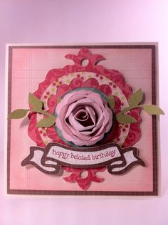 Everyday Cricut: Happy belated birthday card made using the NEW Artiste cartridge