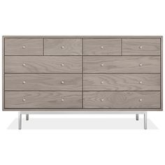 Store all the clothes you need in a beautifully crafted wood dresser from Room & Board. The Manning collection featured unique mitered corners and a sleek steel base. Wood Dresser, Dresser Drawers, Thing 1, Mitered Corners, Apartment Furniture, Wood Crafts, Modern, Board, Master Bedroom
