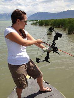 Girl Bow Fishing