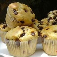 These sweet muffins come together in a jiffy, with a liberal helping of chocolate chips.