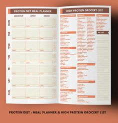 Midori Meal Planner Weight Loss Planner Protein by GetWellPlan