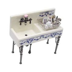 Fancy Kitchen Sink with Filled Dish Drainer by Reutter Porzellan