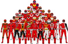 All of Super Sentai's Reds by Taiko554