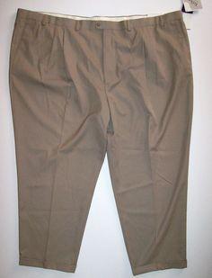 Big Mens Size 60X30 60W 30L Repp Beige Dress Pants Pleated Cuff #repp #DressPleat