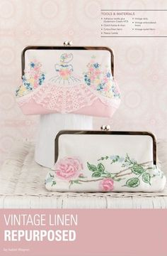 Learn how to make coin purses from repurposed vintage linen with Isabel Wagner's article in Haute Handbags Autumn 2014.