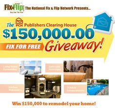 The PCH Publishers Clearing House is organizing the Fix For Free Giveaway Sweepstakes and is giving away the chance to win $150,000 to remodel your home!