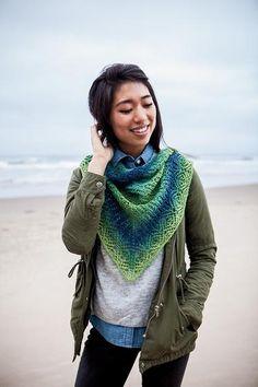 Caterpillar Shawlette - Knitting Patterns and Crochet Patterns from KnitPicks.com
