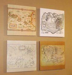 Mapas de madera Friki para arte mural