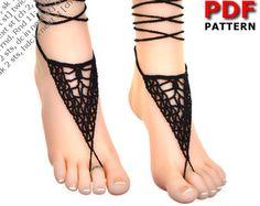 Barefoot sandals crochet pattern beach wedding by LassCrochet
