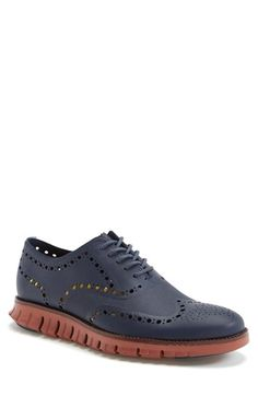 Cole Haan 'ZeroGrand' Wingtip Oxford (Men) available at #Nordstrom. '