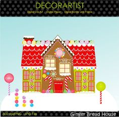 Christmas clip artchirstmas gingerbread clip art by decorartist