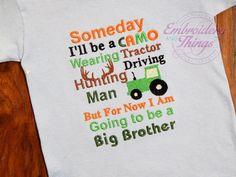 Big brother shirtBoy Shirtor Big brother by EmbroiderybySharon