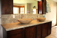 straight transition to countertop
