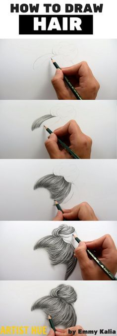 How to Draw Hair Properly is part of drawings Hair Male Curly - How to draw hair how to draw hair step by step how to draw hair realistic hair art how to draw artisthue hair howtodrawhair Pencil Art Drawings, Art Drawings Sketches, Realistic Drawings, Easy Drawings, How To Draw Realistic, How To Draw Sketches, Drawing Faces, Pencil Sketches Easy, Sketch Drawing