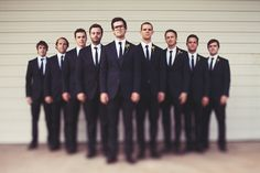 this type of pic would work cause you have a large wedding party