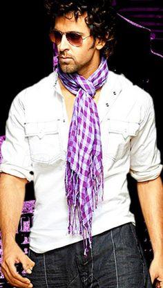 Masculine & elegance men fashion purple scarf