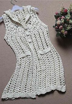 crochet tunic crochet one piece crochet swimsuit Crochet jacket et item 1027 Crochet T Shirts, Crochet Cardigan, Crochet Clothes, Thread Crochet, Crochet Lace, Crochet Shawl Diagram, Sombrero A Crochet, Crochet One Piece, Mode Crochet