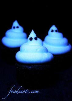 Glow in Dark Cup cakes, is it halloween yet? cake-love