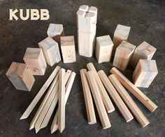 Kubb (aka Viking Chess) is a fun outdoor game in which you throw batons at blocks of wood: It can be played on any surface - grass, sand, snow, dirt, whatever. Making a set is easy if you have some 4×4 lumber and dowels around, and one of the first projects I followed on this site was fungus amungus's instructions for doing exactly that. I've made a couple of sets for friends since and I wanted to make another, but had no 4×4 lumber or dowels and was disinclined to buy some when I...