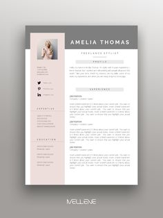 2 page resume, CV design + cover letter + free icons and usage manual. Professional, creative layout, simple in use. Resume design idea and graphic design inspiration. Start your dream career today! Resume Design Template, Cv Template, Resume Layout, Resume Cv, Conception Cv, Professional Cover Letter, Professional Resume, Cv Inspiration, Graphic Design Resume