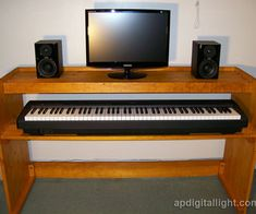 This instructable describes how to build portable piano stand with two 12 x 60 shelves. It has enough room to accommodate full size 88 key digital.