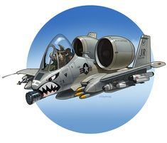 Something I did to cheer a friend, who is a fan of the A10 'Warthog'. Some pencilling, inking and then colour stuff in that photoshop program.