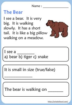 English Grammar For Kids, English Worksheets For Kids, English Lessons For Kids, English Reading, Addition Worksheets, First Grade Reading Comprehension, Phonics Reading, Reading Comprehension Worksheets, Reading Passages