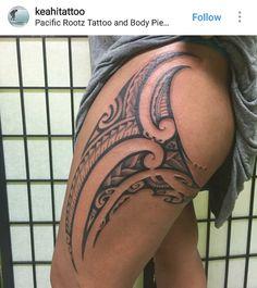 Starting a full leg piece. First freehand session today - Polynesian tattoos - Tatoo Ideen Maori Tattoos, Hawaiianisches Tattoo, Polynesian Tribal Tattoos, Tribal Tattoos For Women, Maori Tattoo Designs, Marquesan Tattoos, Tattoo Motive, Samoan Tattoo, Leg Tattoos