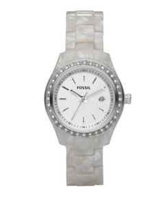 Fossil Watch, Women's, Mini Stella White Pearlized - $65.00