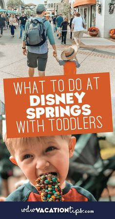 "Exploring and playing at ""The Springs"" is a toddler must. Here are 8 things to do at Disney Springs with toddlers. #wdw #disneyworld"