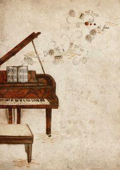 Pinzellades al món Piano Y Violin, Piano Art, Piano Music, Music Artwork, Art Music, Musik Wallpaper, Jouer Du Piano, Musik Illustration, Piano Photography