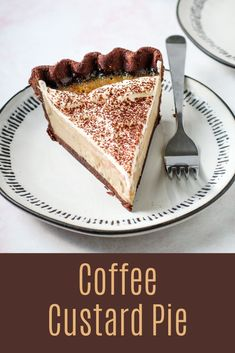 A pie just for the coffee lovers! This Coffee Custard pie has a creamy, smooth coffee filling encased within a decadent chocolate pastry crust. Garnish it with whipped cream and cocoa powder, or serve as is for a bold and delicious pie option. Sweet Desserts, No Bake Desserts, Just Desserts, Delicious Desserts, Dessert Recipes, Yummy Food, French Desserts, Tart Recipes, Sweet Recipes