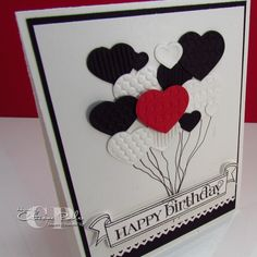 Fashionable Heart Embosslit – Birthday Card – Catherine Pooler