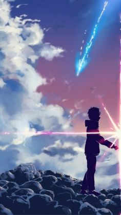 Anime Kimi No Na Wa/ Your Name Wallpaper Lockscreen HD fondo de pantalla - The Universe of Manga Wallpaper Casais, Kimi No Na Wa Wallpaper, Your Name Wallpaper, Cute Couple Wallpaper, Matching Wallpaper, Disney Wallpaper, Wallpaper Quotes, Wallpaper Backgrounds, Trendy Wallpaper
