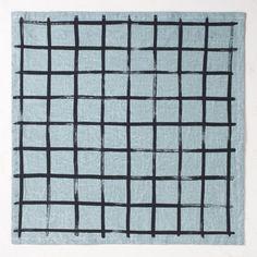Brush Grid Napkin Set - Hand Dyed Seafoam