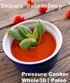 Tomato and Bacon Soup (pressure cooker) » Baby Baby Lemon