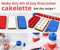 FOURTH OF JULY: Firecracker cake