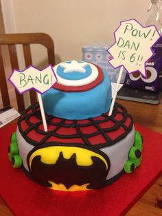 Superheroes cake!