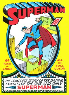 "This was a comic fully dedicated to Superman, but it was a reprint of the original ""Action Comics Story,"" which was published in the summer of 1930. Description from cecilbuffington.com. I searched for this on bing.com/images"