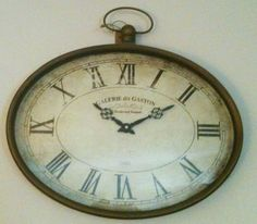Pier 1 pocket watch inspired wall clock